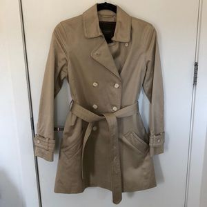 Light khaki trench coat